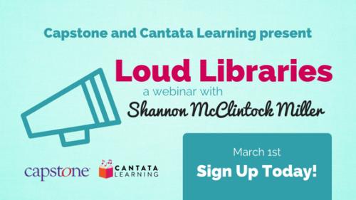 Loud Libraries website ad-3